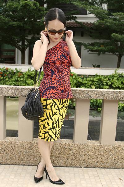 asos skirt - smartbuyglassescom sunglasses - thepoplookcom top