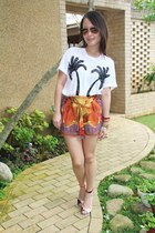 DIY shorts - asos t-shirt - asos heels