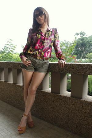 missoni for target blouse - Primark shorts - Steve Madden heels