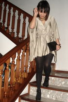 gold daniel hechter top - black Topshop tights - black Faith shoes