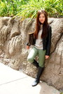Dark-gray-rouched-boots-nyla-boots-black-faux-leather-zara-jacket
