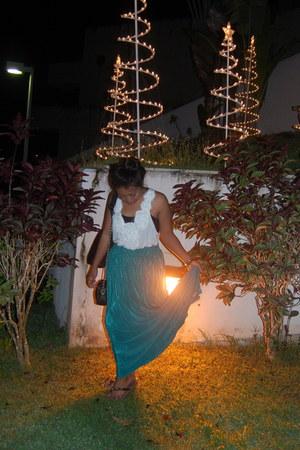 skirt - rosette cotton top