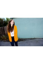 blue Gap jeans - mustard Forever 21 cardigan