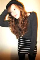 Forever 21 hat - Target skirt - Forever 21 sweatshirt