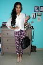 Magenta-suite-blanco-jeans-light-pink-gojane-flats