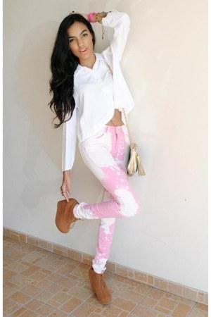 bubble gum asos jeans
