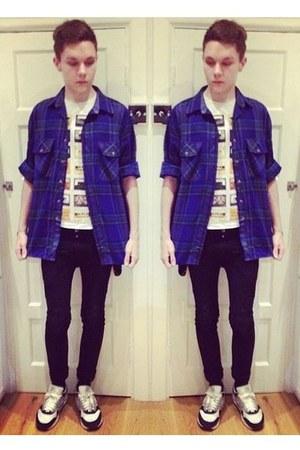 tape print vintage t-shirt - black skinny Skinny jeans