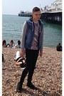Black-river-island-jeans-sky-blue-denim-forever-21-jacket