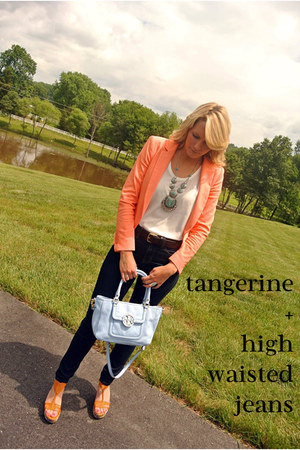 tangerine Zara blazer