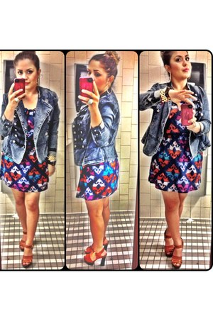 BB Dakota dress - Forever 21 jacket - Guess heels