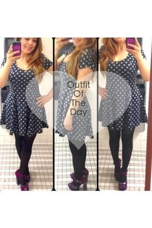 vintage dress - Report heels