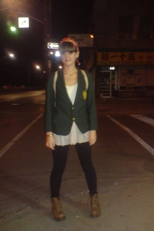 blazer - shirt - tights - shoes