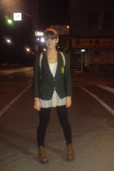 blazer - shirt - tights - shoes