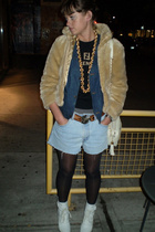 Gap jacket - Fendi sweater - Levis Vintage Collection shorts - belt