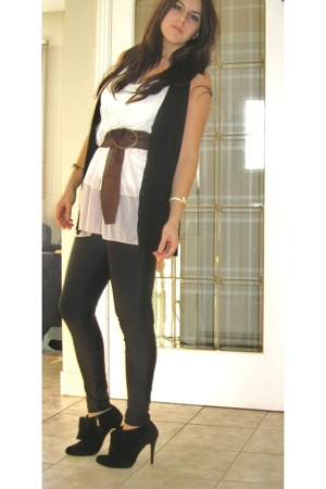 urban behavior vest - H&M top - American Apparel leggings - Colin Stuart shoes -