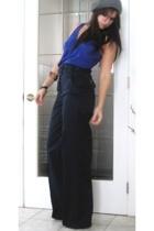 forever 21 top - Mango pants - H&M hat - mexico bracelet - vintage bracelet