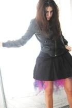 Simons jacket - H&M skirt - DIY skirt - le chateau boots