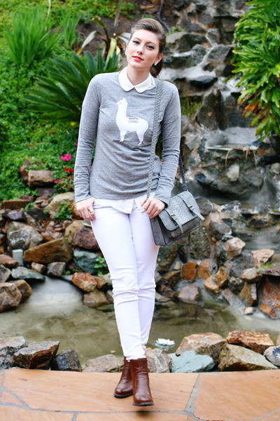 heather gray diy sweater shirt