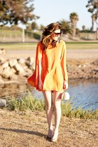 orange romwe dress