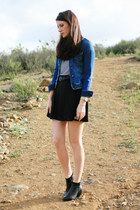 black DIY skirt - blue Old Navy jacket