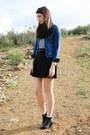 Blue-old-navy-jacket-black-diy-skirt