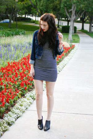 black American Apparel dress - blue Target jacket