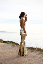 gold DIY skirt skirt