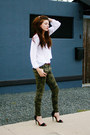 Black-zara-shoes-dark-khaki-zara-pants-white-cottonon-blouse