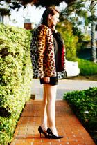 brown Self Sewn jacket - black asos dress