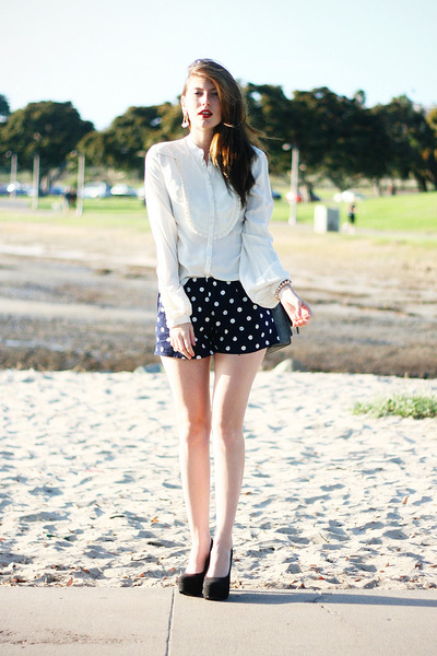 navy DIY shorts shorts - white 31 Phillip Lim blouse