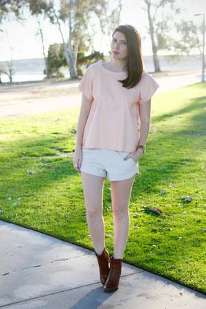 eggshell Zara shorts