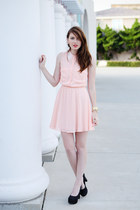 light pink H&M dress - black Call it Spring heels