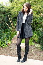 black MIKKAT MARKET skirt - heather gray H&M coat