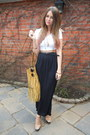 Mustard-river-island-bag-black-primark-skirt-white-topshop-top