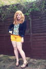 Light-brown-topshop-shoes-black-h-m-blazer-gold-miss-selfridge-shorts