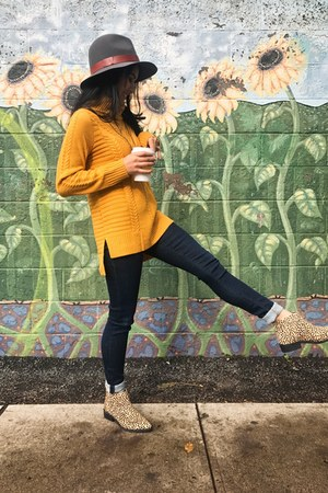kensie sweater - booties leopard Urge Footwear boots - Citizen of humanity jeans
