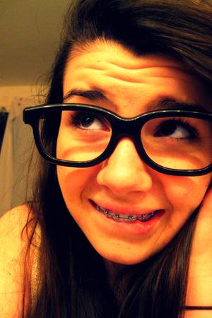 black 3-D glasses