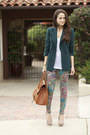 Zara-blazer-marc-cain-bag-jcrew-t-shirt-floral-7-for-all-mankind-pants