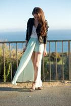 asos skirt - Topshop jacket - Topshop top - Zara heels