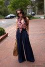 Palazzo-elizabeth-and-james-pants-collective-concepts-top-bcbg-belt