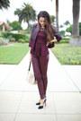 Burgundy-zara-shirt-h-m-jacket-topshop-pants-christian-louboutin-heels