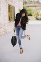 Topshop jacket - Genetic Denim jeans - madison marcus blouse - Zara heels