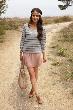 Urban Outfitters skirt - headband Anthropologie accessories - f21 sweatshirt