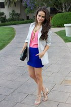 Elizabeth & James blazer - vintage necklace - mini dvf skirt - studded Valentino
