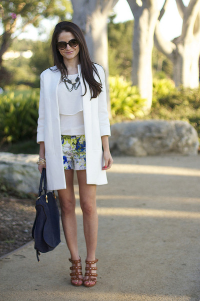 Zara shorts - Zara coat - Gucci heels