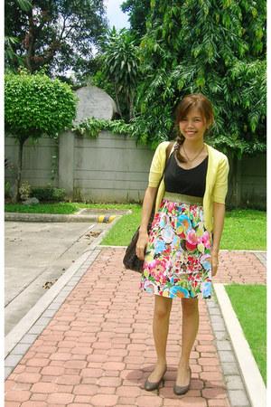 SM dress - brown leather coach bag