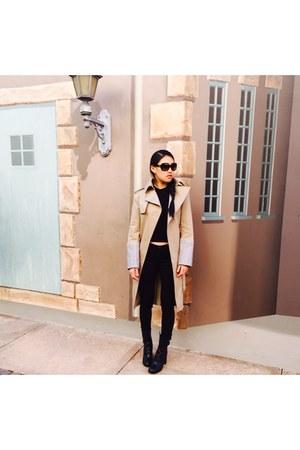 Alexander Wang coat - tory burch boots - Chanel sunglasses - rag & bone pants