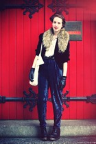 H&M shirt - vintage blazer - vintage pants - H&M headband accessories - JC for L