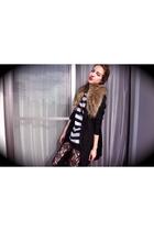 H&M shirt - H&M blazer - H&M leggings - tokyo necklace