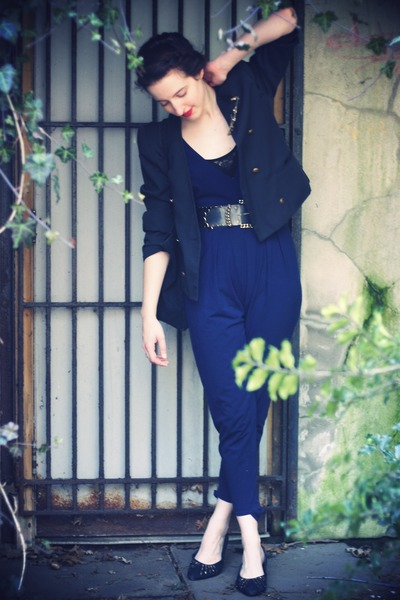 American Apparel intimate - vintage suit - vintage blazer - vintage shoes - vint